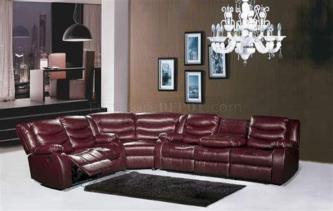 gramercy motion sectional sofa burgundy bonded leather