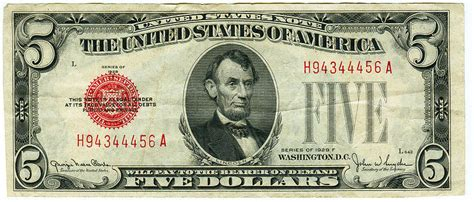 How Much Is A 1963 Red Seal Five Dollar Bill Worth ...