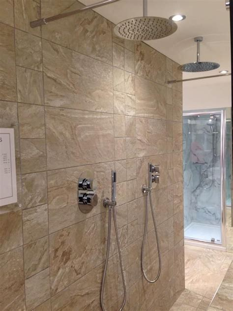 His And Shower by His And Hers Shower Area With Ultra Slim Aquablade Shower