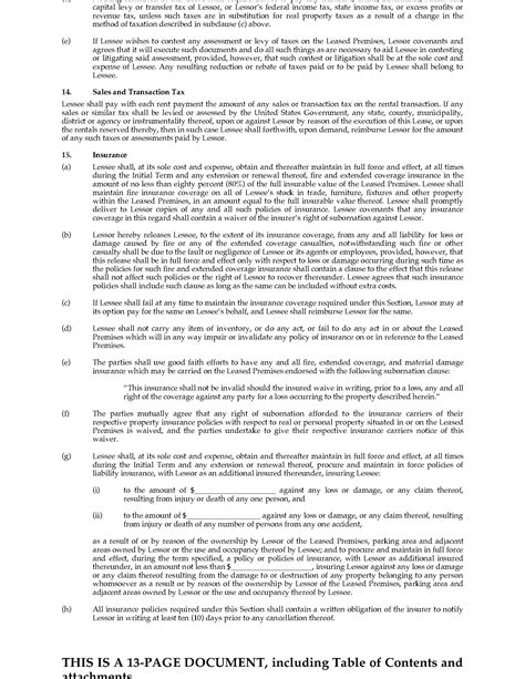 Texas Commercial Triple Net Lease Agreement  Legal Forms