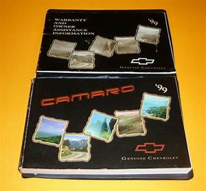 1999 Chevrolet Camaro Owners Manual Set 99 Guide Coupe Z28