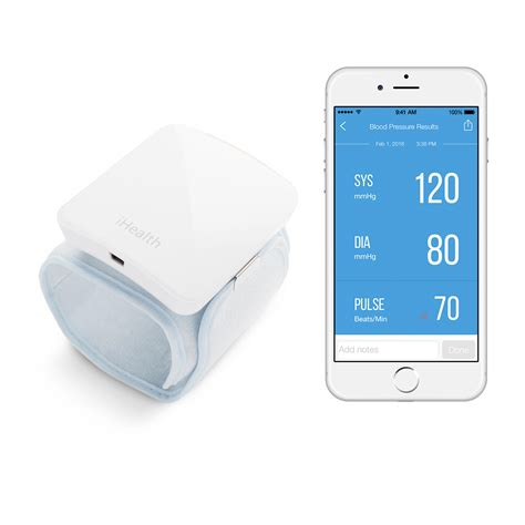 iphone pressure monitor ihealth sense wireless wrist pressure