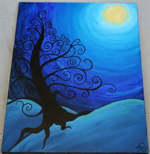 DIY Tree Canvas Painting Ideas