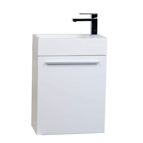 18 bathroom vanity set buy 18 inch bathroom vanity set glossy white tn t460 hgw