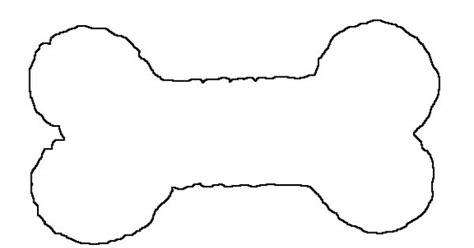 dog bone stencilgif  stencils pinterest