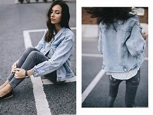 Denim Jacket Fashion Blogger