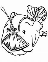 Fish Coloring Pages Viper Angler Printable sketch template