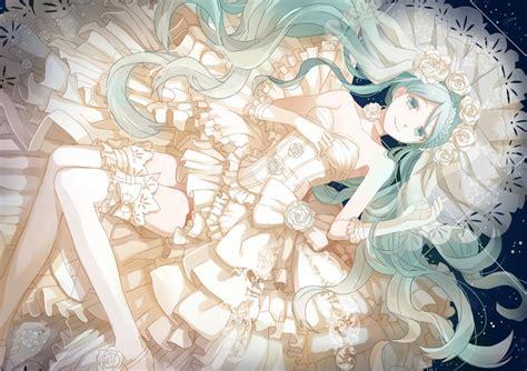 Anime Wedding Wallpaper - white dress dress anime vocaloid wedding dress