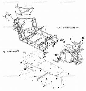 Polaris Side By Side 2013 Oem Parts Diagram For Chassis