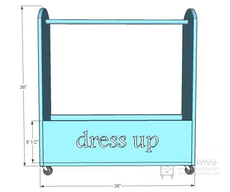 dress  storage solution tutorial  drawings