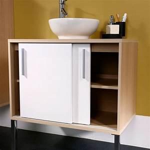 Petit Meuble Salle De Bain : meuble bas de salle de bain conforama ~ Teatrodelosmanantiales.com Idées de Décoration