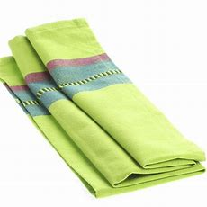 Lime Green Dobby Striped Cloth Dish Towel  Kitchen Towels