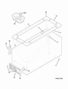 Kenmore 25312822510 Chest Freezer Parts