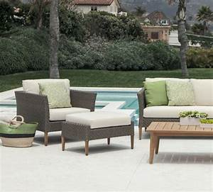 Luxury outdoor furniture by Brown Jordan. This woven set ...
