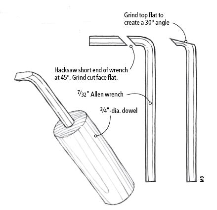shop  mortise cleaning tool popular woodworking magazine