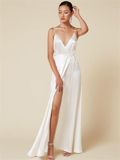 west dress   white satin dress ball dresses dresses