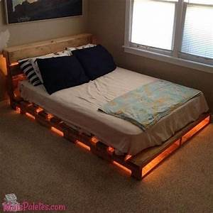 Lit Bed Up : light up pallet bed frame i would use one more row of ~ Preciouscoupons.com Idées de Décoration