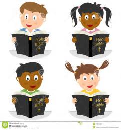 Holy Bible Clip Art Kids Reading