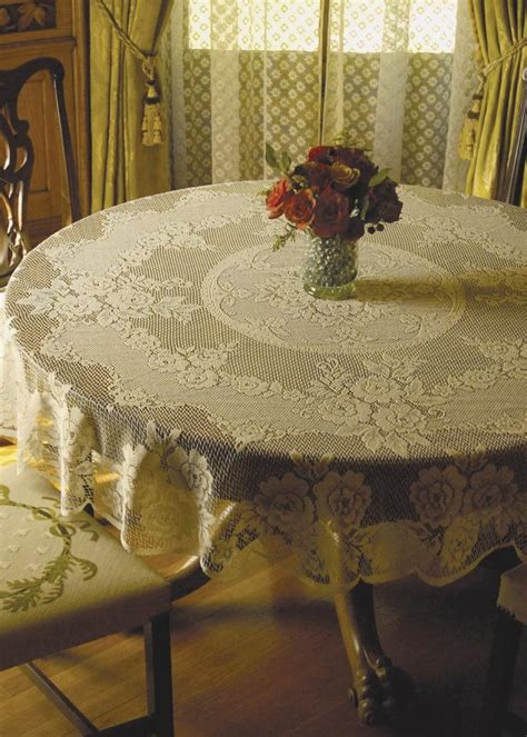 victorian rose table linens  heritage lace bedbathhomecom