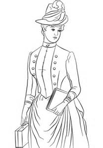 victorian lady coloring page  printable coloring pages
