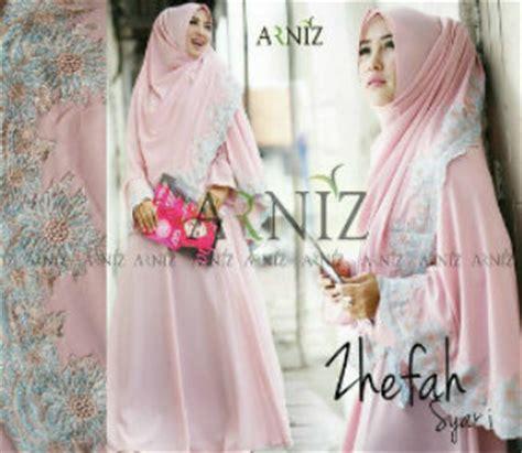 Harga Gamis Merk Arniz koleksi baju dress dan busana muslim terkini gamis set