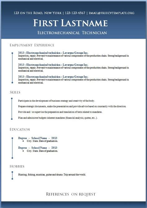 Resume Template Youth Central by Resume Template