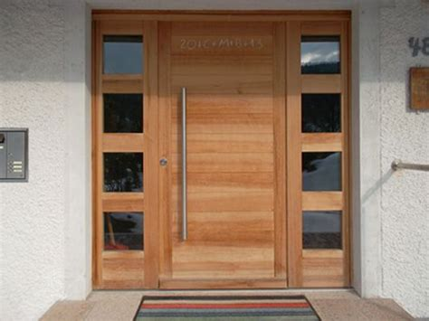 Individuell Gefertigte Haustüre Aus Massivholz Eingang