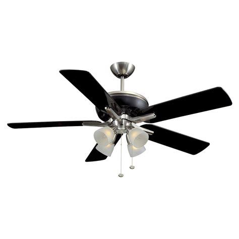lowes ceiling fan light kit shop harbor breeze tiempo 52 in brushed nickel black