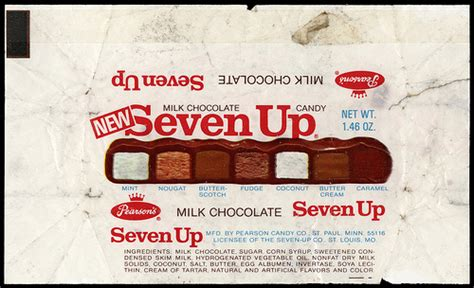 Pearson's - Seven Up [NEW] candy bar wrapper - 1970's ...