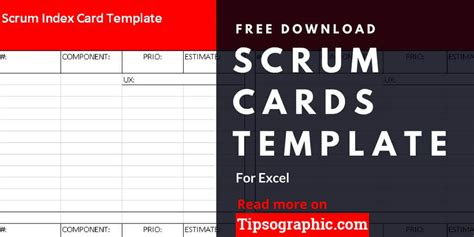scrum cards template  excel   tipsographic