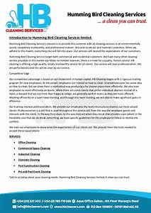introduction letter hb With sample of letters introducing new cleaning services company