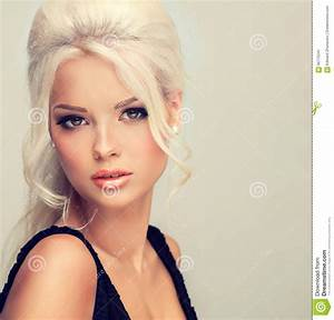Beautiful Model With Blonde Hair Stock Image Image Of