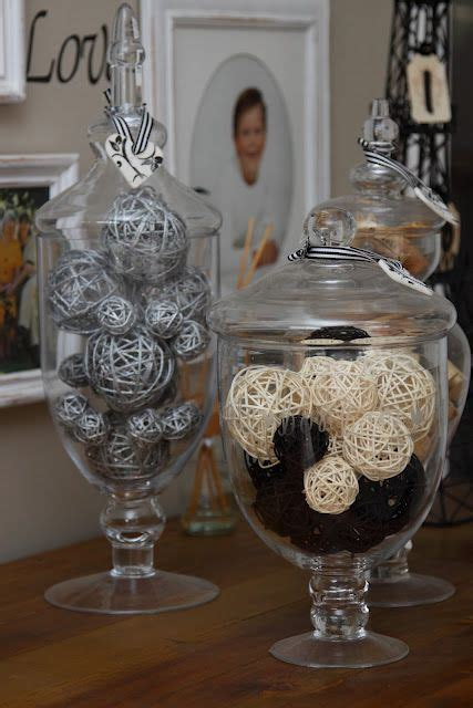 Jars Kitchen Decor by Apothecary Jars For Decoration W O The Balls