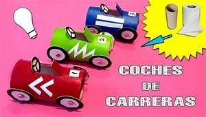 COCHES DE CARRERAS de cartón * Reciclaje con tubos de papel YouTube
