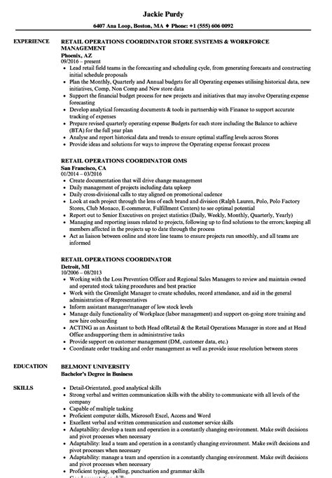 Cover Letter For Operations Coordinator by Operations Coordinator Resume Resume Ideas