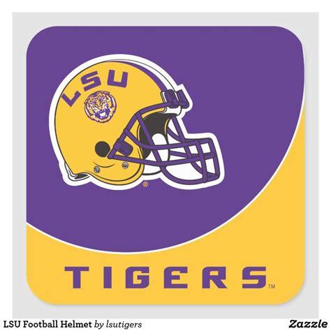 LSU Football Helmet Square Sticker | Zazzle.com in 2020 ...