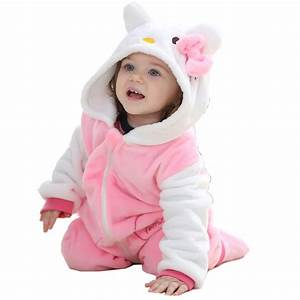 Pink KT Romper Newborn Baby Girl Clothes 2016 Cute Baby ...