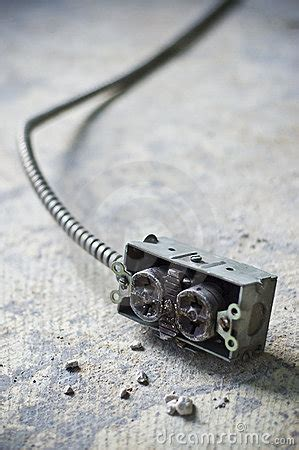 electric power outlet exposed concrete stock