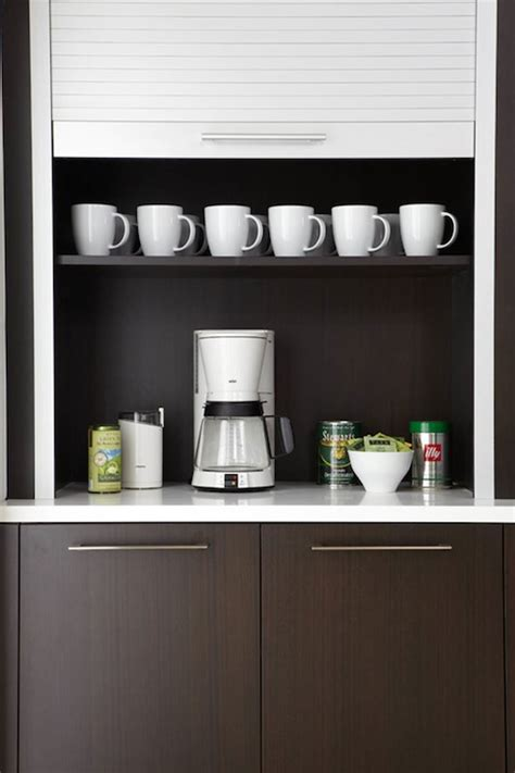 Hidden Coffee Station Contemporary Kitchen Caden