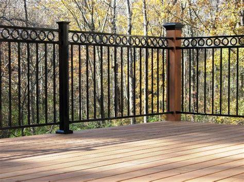 black porch railing types of wrought iron deck railing panels thehrtechnologist