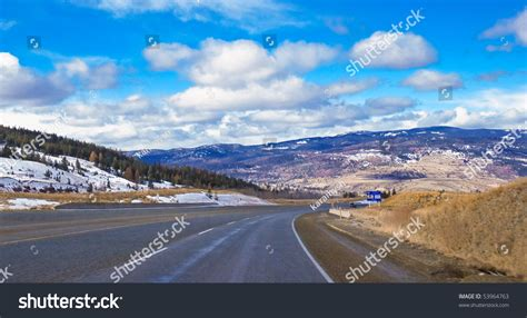 Winter View Of Mountain Road To Okanagan Valley British