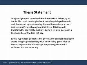 Thesis Statement v3