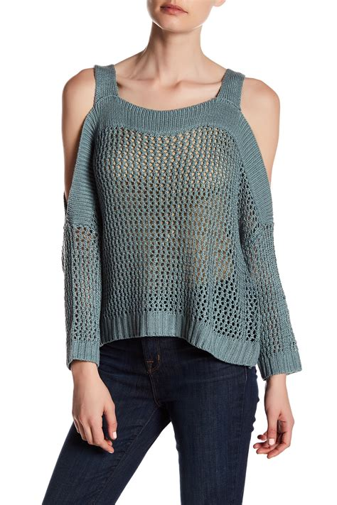 romeo sweater romeo juliet couture knit cold shoulder sweater