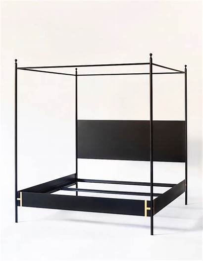 Canopy Bed Poster Four Iron Josephine Metal