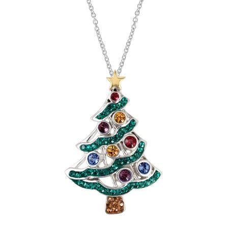 crystaluxe christmas tree pendant  swarovski crystals