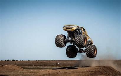 Monster Truck Trucks Wallpapers Backgrounds Action Jump