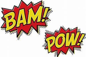 Bam Pow Cartoon Message Text