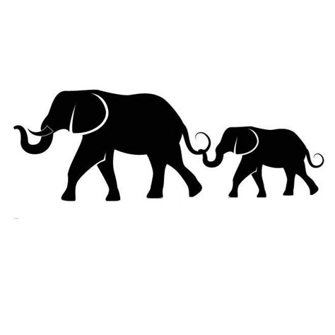 elephant family silhouette car decal sticker ebay