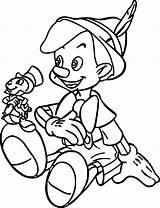 Pinocchio Coloring Jiminy Disney Ingrahamrobotics sketch template