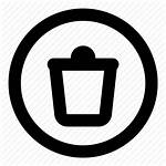 Recycle Bin Icon Trash Round Delete Icons